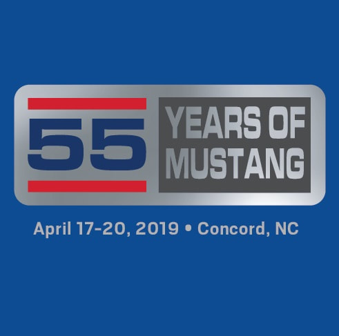 55 Years Of Mustang Mens Blue Tee