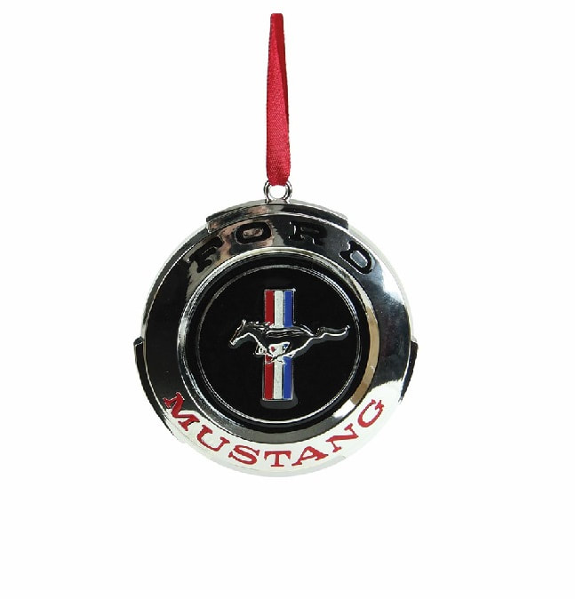 3 Silver Plated Ford Mustang Gt Logo Ornament